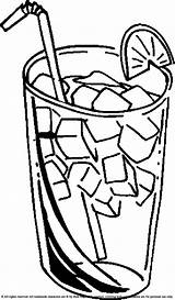 Juice Coloring Cold Drinks Clipart Pages Drinking Colouring Ice Printable Drink Glass Water Lemonade Summer Beverages Explore Children Crafts Disimpan sketch template