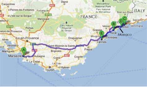 Map Of Southern France And Northern Italy And Travel