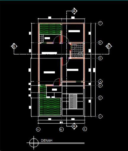 contoh gambar denah rumah type  arsitek sipil blog