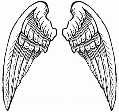 Wings Angel Printable Cliparts Coloring Heart Clip
