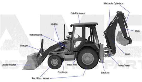 ams construction parts case backhoe replacement parts