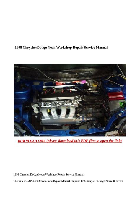 free auto repair manuals 1998 plymouth neon instrument cluster 1998 chrysler dodge neon workshop repair service manual by abcdeefr issuu
