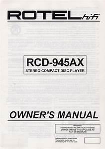 Rcd-945ax Manuals