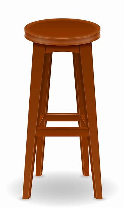Bar Vector Chair Stool Illustration Wooden Clipart