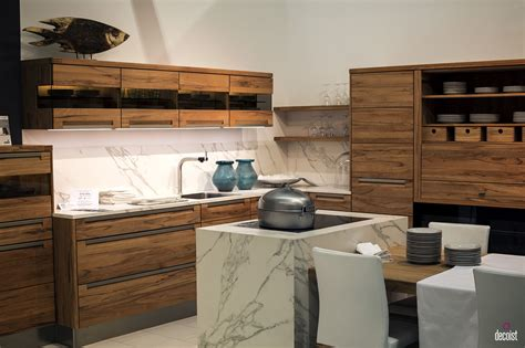 kitchen island bar stools 10 dashing modern kitchens that combine marble and wood