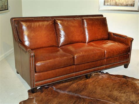 Ebay Settees Leather by Beautiful New Deco Sofa Antiqued Butterscotch Genuine