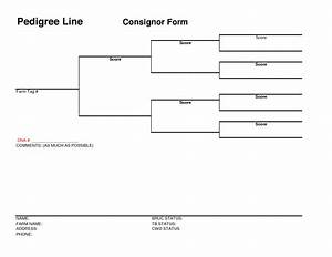 7 best images of blank pedigree chartpdf 5 generation With free dog pedigree template