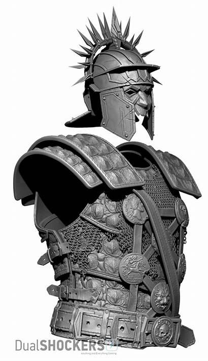 Armor Animated Ryse Xbox Polygons Character Million