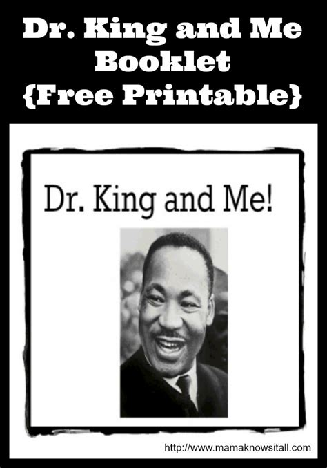 martin luther king preschool dr king amp me booklet printable knows it all 526