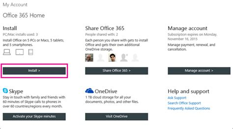 Office 365 Account by And Install Office 365 Home Personal Or