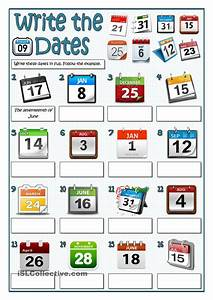 Writing of dates in english