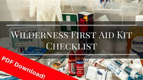 aid checklist pdf kit wilderness survival guide canuck guides read category