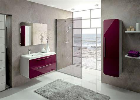 meubles de salle de bains igloss de aquarine couleur aubergine brillant salle de bain