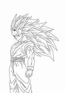 Goku Super Saiyajin Level 3 Lineart By Gonzalossj3 On