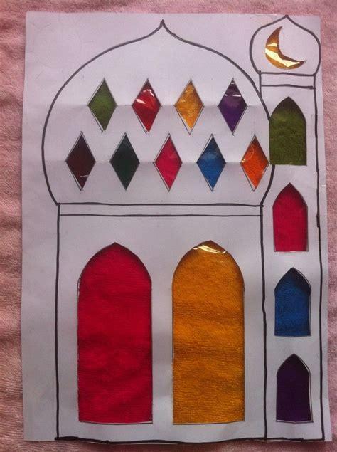 masjid mosque sun catcher islam activities crafts 469 | 4e4e43c4ed4d9e6653ee72915527e692