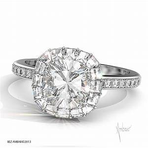 Cushion cut diamond engagement ring ring of fire for Halo engagement rings with wedding bands