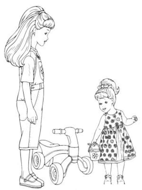 sisters coloring pages    print