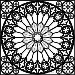 gothic rose window stock image image