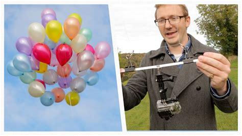 diy drone  balloons  fishing rod