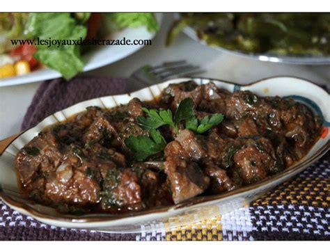 jeux de cuisine marocaine foie en sauce kebda mchermla les joyaux de sherazade