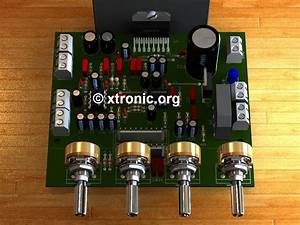 Circuit Power Audio Amplifier With Tda7377 2 1