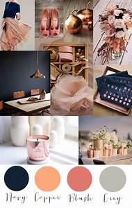Was Ist Ein Moodboard : colorcrush kupfer navy blush und grau branding mood boards pinterest geheimnis kupfer ~ Markanthonyermac.com Haus und Dekorationen