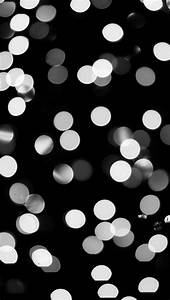 Black and White Bokeh Wallpaper - Free iPhone Wallpapers