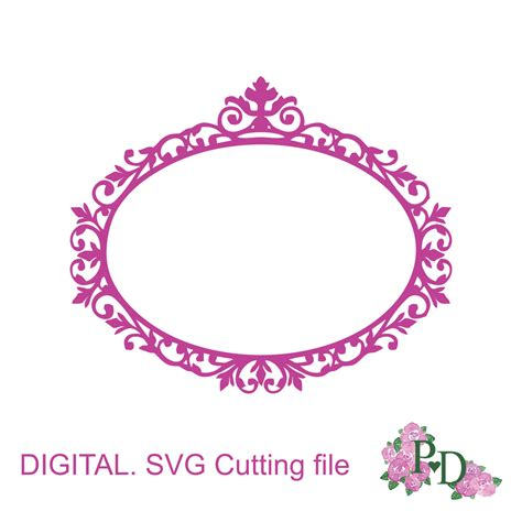 SVG Cutting frame svg dxf. png digital instant download