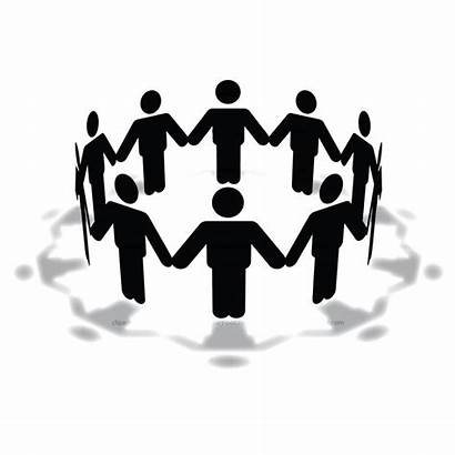 Clip Clipart Circle Holding Hands Meeting Silhouette