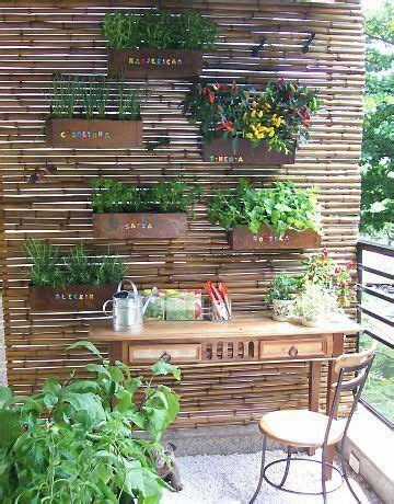 Bamboo Vertical Garden by Vertical Garden Attached To Bamboo Blinds Happy House