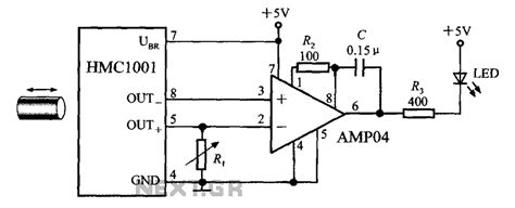 proximity switch integrated circuit composed of the magnetic field sensor hmc1001 magnetic