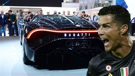 Juventus superstar cristiano has added the world's most expensive car, the bugatti la voiture noire, to his already enviable collection of luxury vehicles. Cristiano Ronaldo New Bugatti