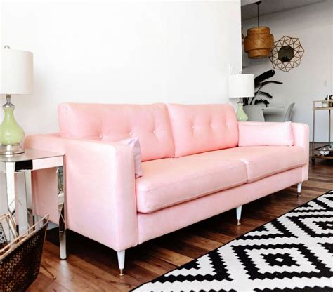 pink loveseats 17 best ideas about pink sofa on blush grey