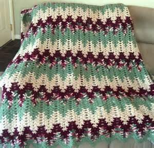 Free Crochet Lacy Chevron Afghan Pattern
