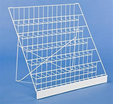 Displays2go Wire Countertop Literature Rack, 6 Tier