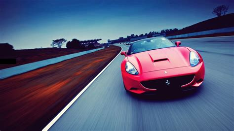 red cars ferrari roads ferrari california