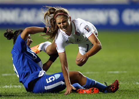 morgan  injures left ankle  uswnts world cup