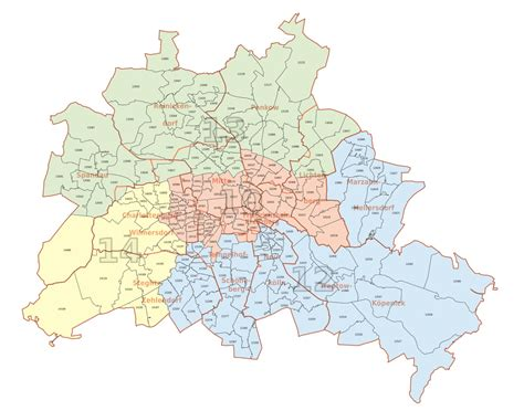 Liste Der Bezirke Und Ortsteile Berlins