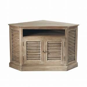 les 25 meilleures idees de la categorie meuble tv angle With maison du monde meuble tv 2 meuble tv dangle en manguier grise l 75 cm persiennes