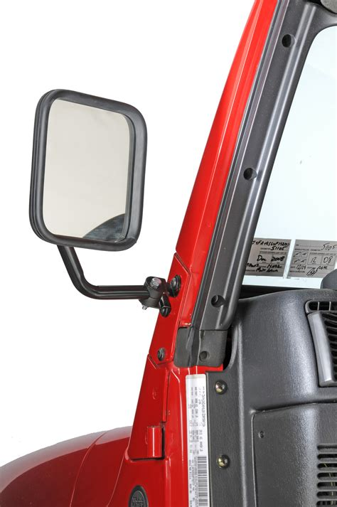 jeep wrangler side mirrors doors cipa 44800 01 dual mirror set in black for 97 06 jeep