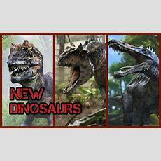 Jurassic World New Dinosaurs Youtube