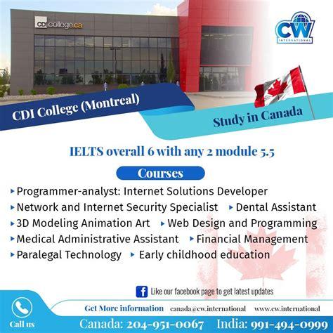 study  canada cdi college montreal quebec