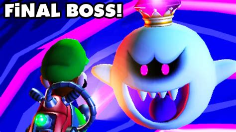 Luigis Mansion Dark Moon King Boo Final Boss Fight And