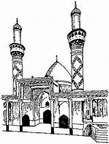 Karbala Coloring Shrine Drawing Ali Al Him Collection Playandlearn sketch template