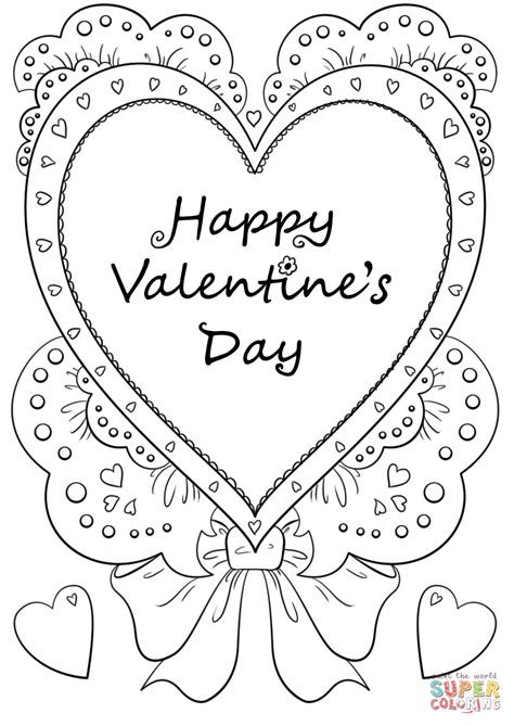 valentines day coloring page happy s day coloring page free printable