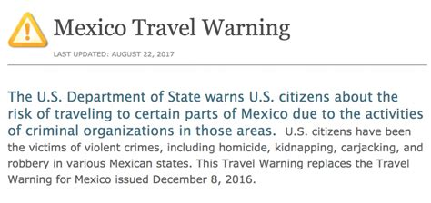US Issues Travel Warning for Mexico After Killings