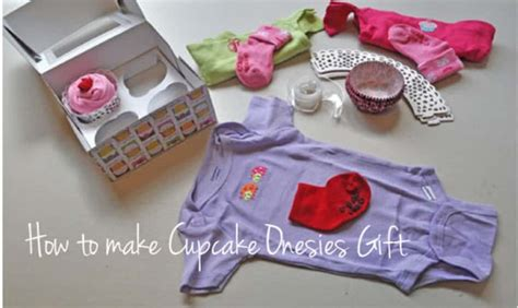 Cupcake Onesies Gift Idea With Video Instructions  The Whoot