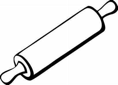 Rolling Clipart Clip Outline Cooking Stencils Kitchen
