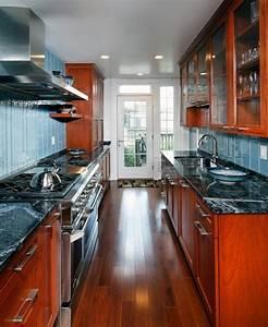 modern kitchen design ideas galley kitchens maximizing With design a galley kitchen layout