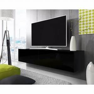 Meuble Tv Suspendu But : point meuble tv suspendu 200 cm noir mat noir brillant achat prix fnac ~ Teatrodelosmanantiales.com Idées de Décoration